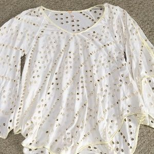 Free People Flowy Shirt size Small